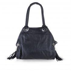 Lara - Medium handbag with leather shoulder strap