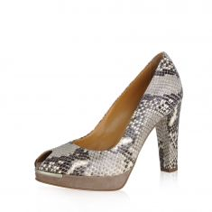Danilo di Lea - Peep toe pump in python leather