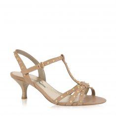 Emanuela Passeri - Sandale mit Metall Goldfarbe-Applikationen