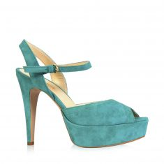 Rouge - Stiletto-heel sandal with strap