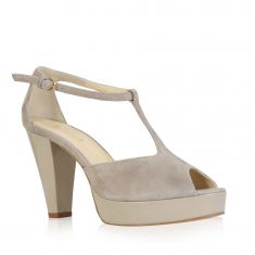 Rouge - Platform sandal with closed heel and strap