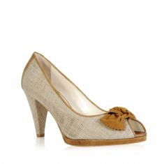 Flaviano Ercoli - Canvas and leather pump