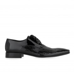 Alberto Lanciotti - Oxford shoe in printed patent leather