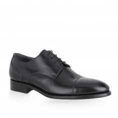 Alberto Lanciotti - Derby stitched calf-leather color Black