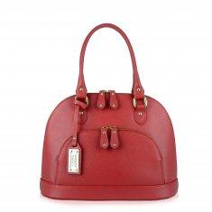 Avorio Nero - Red leather medium shoulder bag